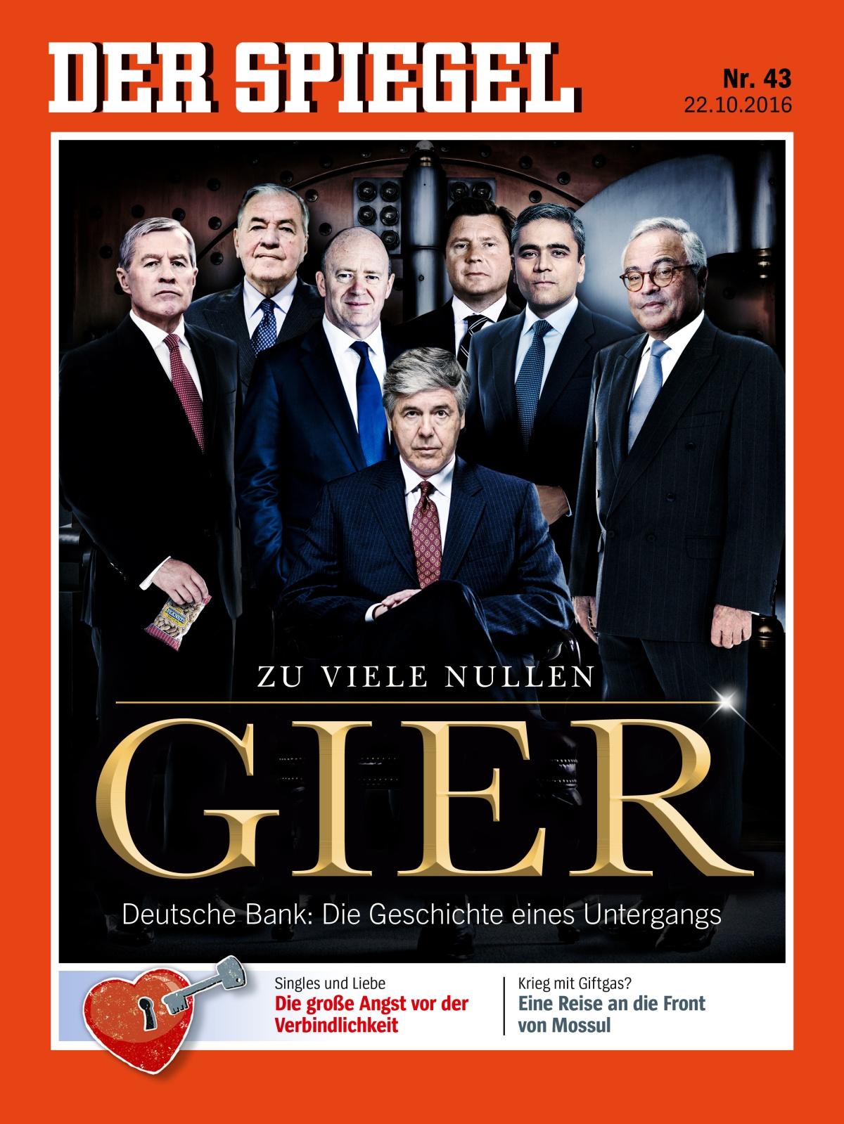 Aufstieg und fall der deutschen bank der spiegel 2016 43 for Spiegel jahresbestseller 2016