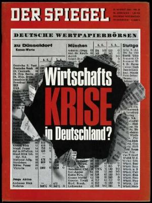 Wirtschaftskrise in deutschland der spiegel 35 1966 for Der spiegel hamburg