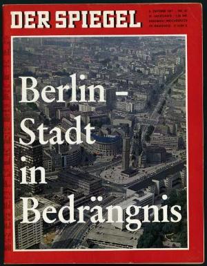 Berlin krise schein am horizont der spiegel 42 1967 for Spiegel verlag berlin